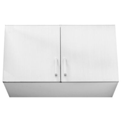 Alacena Lugano 100 x 68 cm roble blanco aluminio