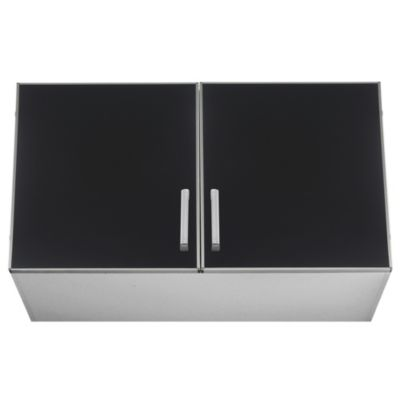 Alacena Lugano 100 x 62.5 cm negro aluminio