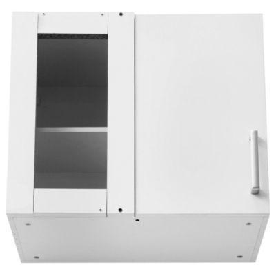 Alacena esquinera Lugano 68 x 62.5 cm blanco PVC