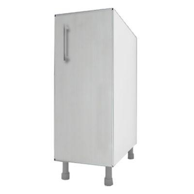 Bajo mesada 30 cm Lugano 1 puerta roble blanco aluminio