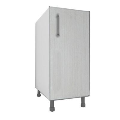 Bajo mesada 35 cm Lugano 1 puerta roble blanco aluminio