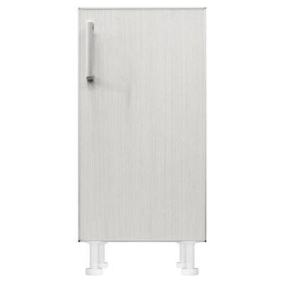 Bajo mesada 40 x 82.5 cm Lugano 1 puerta roble blanco aluminio