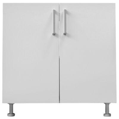 Bajo mesada 60 x 82.5 cm Lugano 2 puertas blanco canto PVC