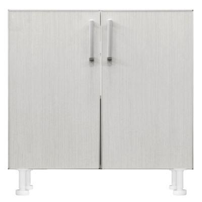 Bajo mesada 60 x 82.5 cm Lugano 2 puertas roble blanco aluminio