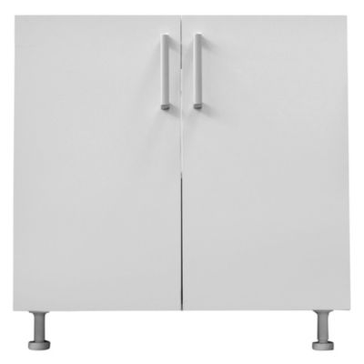 Bajo mesada 80 x 82.5 cm Lugano 2 puertas blanco canto PVC