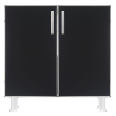 Bajo mesada 80 x 82.5 cm Lugano 2 puertas negro aluminio
