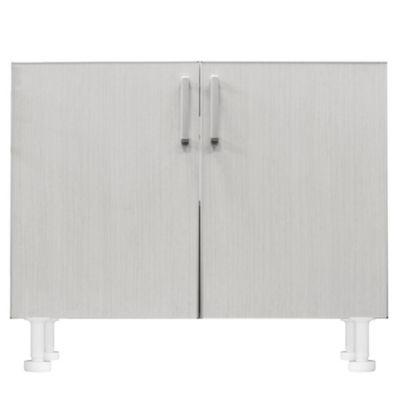 Bajo mesada 100 x 82.5 cm Lugano 2 puertas roble blanco aluminio