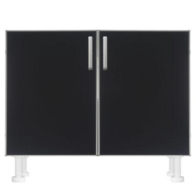Bajo mesada 100 x 82.5 cm Lugano 2 puertas negro aluminio