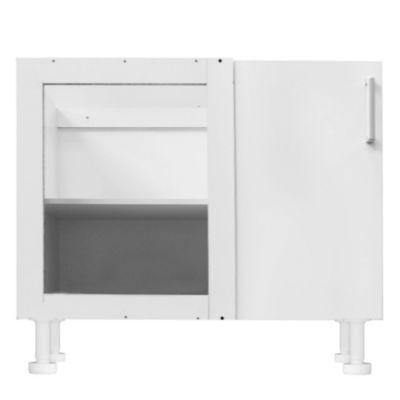 Bajo esquinero 98 x 82.5 cm Lugano 1 puerta blanco canto PVC