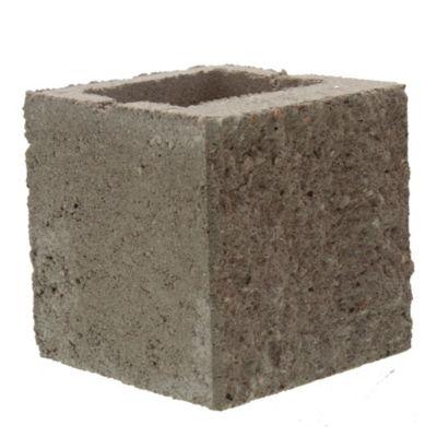 Bloque de hormigón semi piedra para muro 20 cm mitad frente