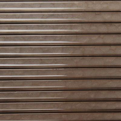 Placa de policarbonato alveolar bronce 1.05 x 2.9 de 6 mm