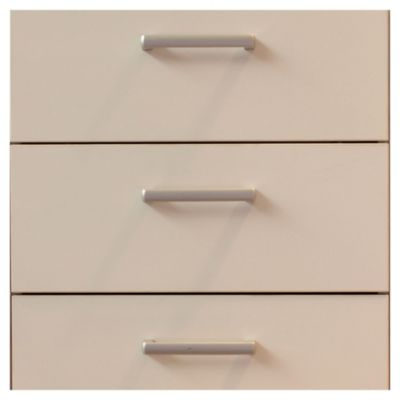 Bajo cajonero 60 x 82.5 cm Lugano 3 cajones blanco canto PVC