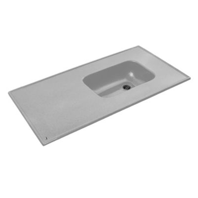 Mesada mármol sintético 120 x 60 cm gris