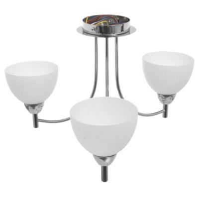 Lámpara de techo satinada de vidrio 3 luces