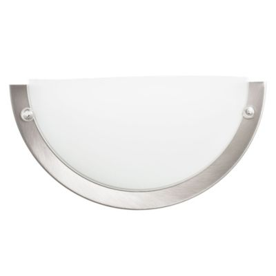 Aplique plástico y níquel de 27 cm 1 luz E27
