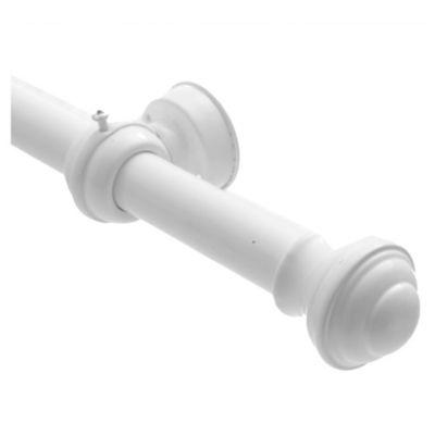 Kit barrra metal blanco x 180 cm