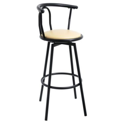 Silla para bar giratoria negra just home collection - Sillas de barra de bar ...