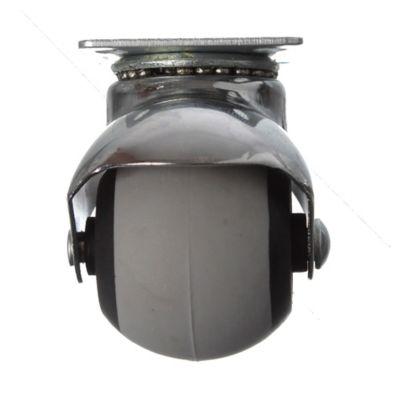 Rueda 40 mm balón soporte cromado
