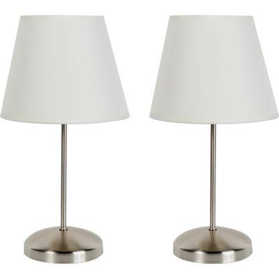 Lámpara de mesa Basic x2 luces E27