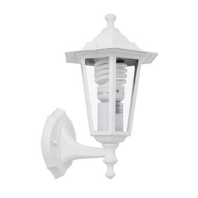 Farol de aluminio superior 1 luz E27 blanco