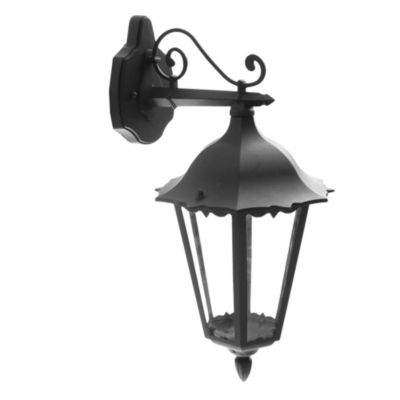 Farol de pared infer con soporte negro