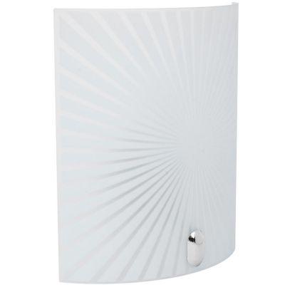 Aplique Rayas de vidrio 30 cm 1 luz E27