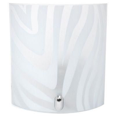 Aplique LED Zebra vidrio 1 luz E27 blanco