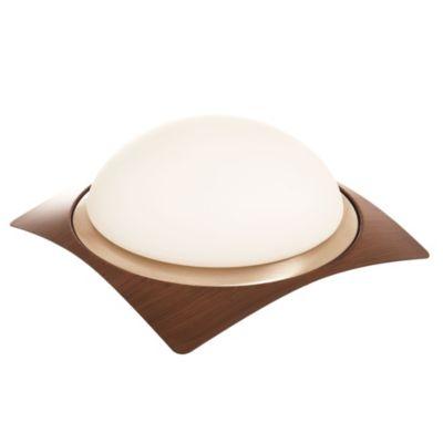 Plafón curvo de madera 26 cm 1 luz x E27