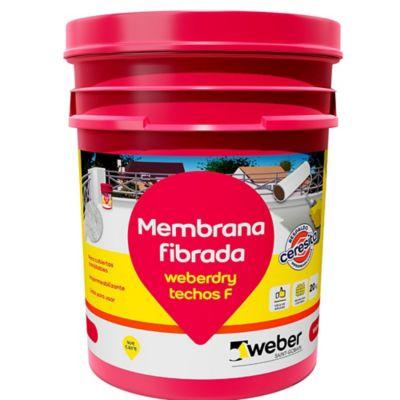 Membrana líquida fibrada blanca 20 kg