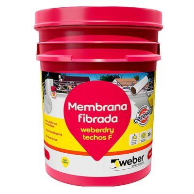 Membrana líquida fibrada teja 20 kg