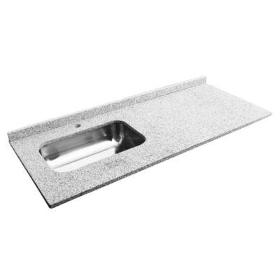 mesada de granito gris mara 140 x 60 cm