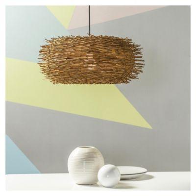 Lámpara colgante de techo natural Nido 1 luz E27
