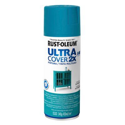 Pintura en aerosol multiuso ultra cover 2x turq...