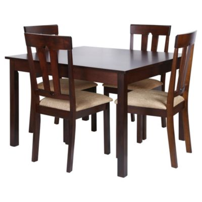 Set comedor Malawi mesa + 4 sillas - Just Home Collection - 2088754