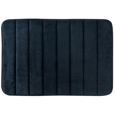 Alfombra de baño rayas y piedras 40 x 60 cm negro