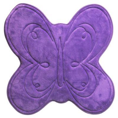 Alfombra de baño Mariposa 61 x 61 cm purpura