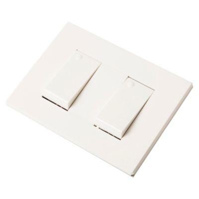 Set armado 2 interruptores blanco