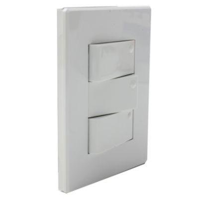 Set armado 3 interruptores blancos