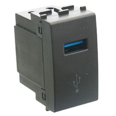 Módulo USB negro 5v 2100 ma