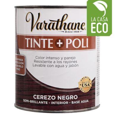 Tinta + poliuretano cerezo negro 0,946 L