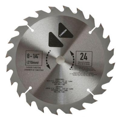 "Hoja para sierra circular 8 1/4"" 24 dientes"