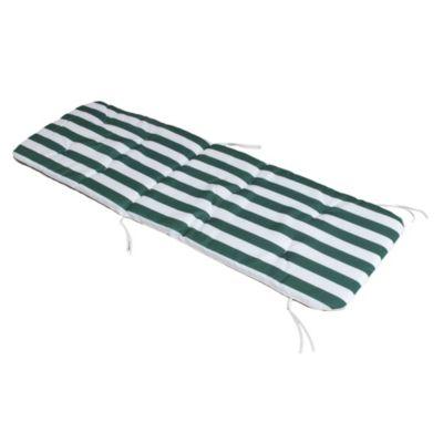 Almohadón reposera rayas verde