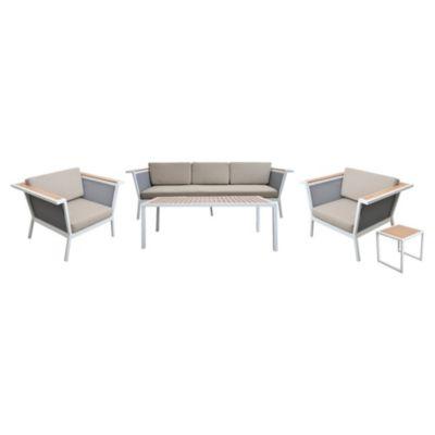 Juego de exterior Prato mesa + 4 sillas