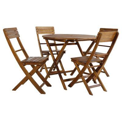 Juego de exterior Catania mesa + 4 sillas Acacia