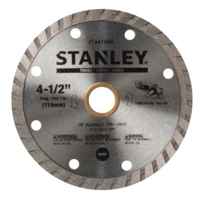 Disco diamantado 4 1/2 turbo stanley