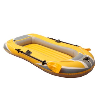 Bote inflable triple con remos