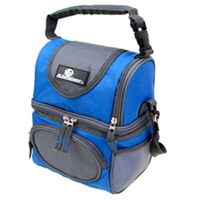 Bolso térmico Soft con 2 áreas y caja azul y gris