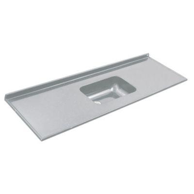 Mesada 160 x 60 cm con zócalo gris