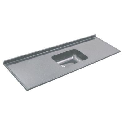 Mesada 160 x 60 cm con zócalo gris oscuro