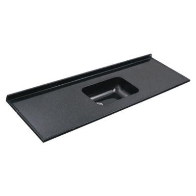 Mesada 160 x 60 cm con zócalo negro